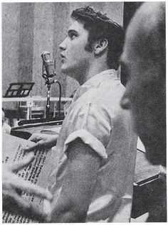 """Recording the """"Love Me Tender"""" soundtrack, the biggest space Elvis had ever recorded in. He found it alienating.  For the rest of his movies, for the most part, he recorded at the smaller Radio Recorders in Santa Monica."""