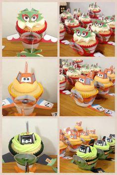 Disney Planes Cupcakes! www.facebook.com/EASYCAKEFUN