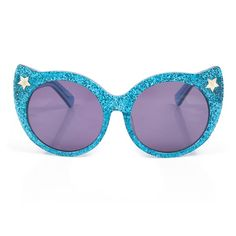 🌺 NEW 🌺   The purrrrrfect sunny accessory, these glittery feline sunglasses will add some much-needed glamour into your summer eyewear.  Sunglasses case also sold separately!