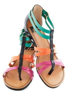 Cutie Crossing Sandal in Brights 49.99, #ModCloth
