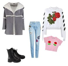 """""""I hope the jacket is vegan, if not 👎🏼👎🏼👎🏼👎🏼"""" by katrinastarring on Polyvore featuring Kenzo, Off-White and Boohoo"""