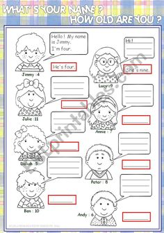 How old are you - ESL worksheet by Year 2 Worksheets, Vocabulary Worksheets, English Lessons, Learn English, English Language, English Grammar, English Exercises, English Activities, Resume Template Free