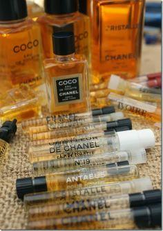 Vintage Chanel fragrance samples.