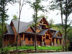 Love log cabins...it's always been a dream of mine to live in a cabin in the woods!