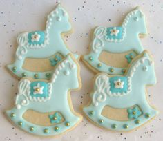 Rocking Horse Cookies  Baby Shower Cookie Favors