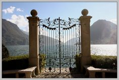 lugano - Beautiful place - recommend it!  Have a pic with Peter standing right at these gates.
