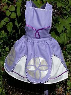 Disney Princess Inspired Dress up Apron Princess by flightofwhimsy, $35.00