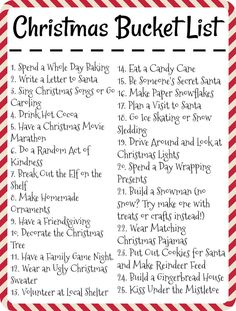 Celebrate the Holidays with the Ultimate Christmas Bucket List