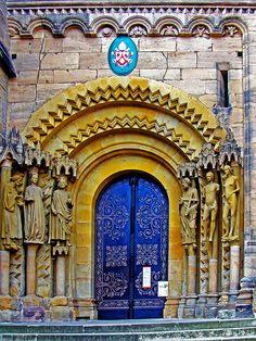 Adam & Eve beside the church door, Bamberg, Germany
