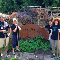 Some of the @communityhealthplanwashington HR and Facilities staff volunteered at the Seattle Children's PlayGarden last Friday!