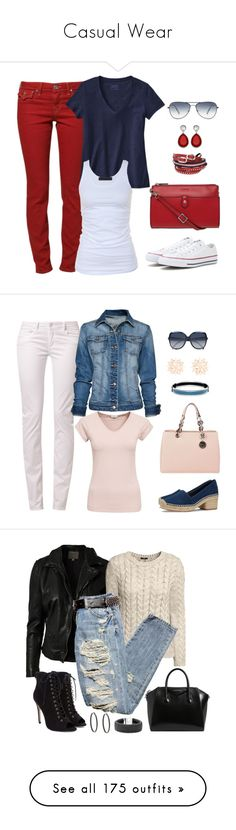 """Casual Wear"" by v-depaolo ❤ liked on Polyvore featuring Converse, Lodis, Oliver Peoples, TOKYObay, True Religion, Patagonia, Tusnelda Bloch, School Rag, MANGO and Filippa K"