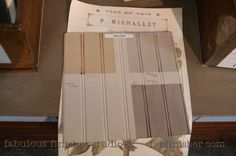 WILLOW - pale beige grey- chalky matte finish, with various glazes and tinted waxes -  Adheres to nearly any surface, covers amazing, little to no brush marks, does not require a wax or topcoat.   Fully stocked store (Metro Detroit) and online shop.fabfinisher.com