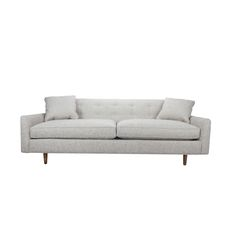 Stand up for style with the Maverick Sofa, a structural masterpiece where mid-century design meets a new level of comfort. Its neutral yet textured pebble-gray upholstery blends effortlessly with count...  Find the Maverick Sofa, as seen in the Wild, Stylish & Free Collection at http://dotandbo.com/collections/wild-stylish-and-free?utm_source=pinterest&utm_medium=organic&db_sku=92912