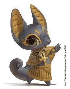 Egyptian God Thoth <Noooo, Thoth has the head of a crane-thingy. This looks like Anubis