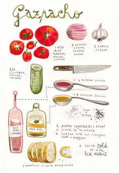 Gazpacho - illustrated recipes - felicita sala