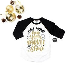 6e533e9e May Your New Year Sparkle and Shine - New Years Eve Shirts - New Years  Shirts - Unisex Kids' Shirts - New Years Eve Shirts - Midnight Kisses