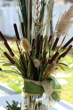 Thanksgiving - Duck Dynasty Style Floral Arrangements; Thistles, dry ...