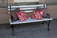 inspiration for my outdoor bench redo