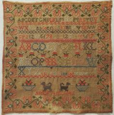 Early 19th Century Alphabet Sampler by Ann Evans 1841 | eBay