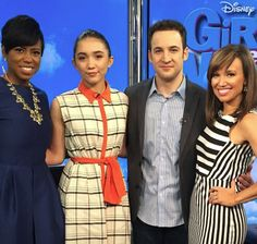 #RowanBlanchard and #BenSavage stopped by to talk #GirlMeetWorld #NYC #NYL