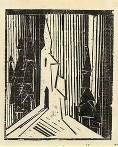 Waldkirche  ...... LYONEL FEININGER   7/17/1871 - 1/13/1956