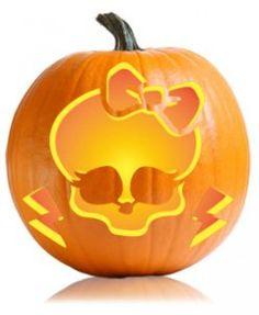 Monster High Pumpkin Carving Pattern