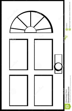 Illustration about vector illustration of a door. Illustration of window, closed, entrance - 5078870 Wild Animals Drawing, Simple Anime, New Home Cards, Art Drawings Beautiful, Christmas Card Crafts, Free To Use Images, Glitter Houses, Christmas Scenes, Paper Houses