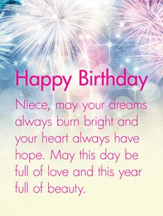 your heart always have hope happy birthday wishes card for niece happy birthday niece wishes