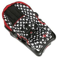 Disney Light 'N Comfy Luxe Infant Car Seat Mickey Silhouette