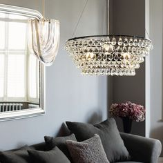 Solid Glass Orb luce di soffitto | The White Company