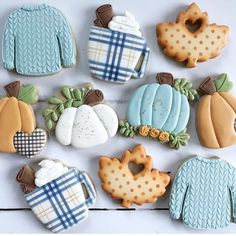Obsessing over these cookies from this morning! Look at the plaid mug y'all 🖤 Fall Decorated Cookies, Fall Cookies, Cut Out Cookies, Iced Cookies, Cute Cookies, Royal Icing Cookies, Holiday Cookies, Cupcake Cookies, Sugar Cookies