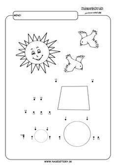 Spájame bodky. Traktor. - Aktivity pre deti, pracovné listy, online testy a iné Kids And Parenting, Montessori, Symbols, Letters, Bb, Tractor, Letter, Lettering, Glyphs