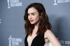 Lily Collins Hair gonna wear it like this <3