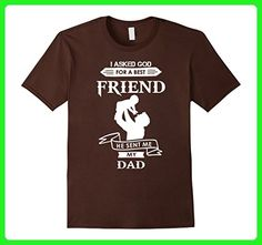 Mens I Asked God For A Best Friend He Sent Me My  dad TShirt Large Brown - Relatives and family shirts (*Amazon Partner-Link)