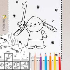 Zabawy andrzejkowe do druku dla przedszkolaków - Królicze Fikołki