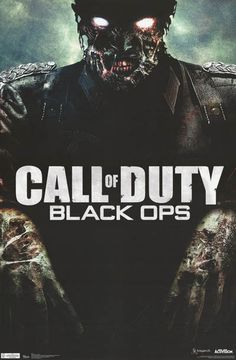 Call of Duty Black Ops Zombie Video Game Poster 22x34