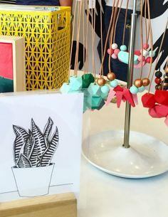 Drawings + Necklaces by Ellebrux @ Hello Handzy Shop + Studio