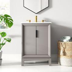 "Evita 24"" Single Bathroom Vanity Set & Reviews   AllModern"