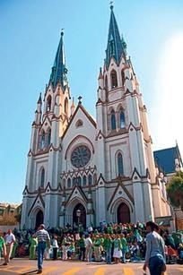 The Cathedral of St. John the Baptist hosts a St. Patrick's Day Mass in Savannah.  #Savannah and #NoBoysAllowed