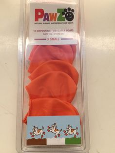 Pawz Orange Water-Proof Dog Boot X-Small Up to 2-Inch Read!   Disposable, reusable, waterproof • Bends with paw and absolutely stays on • Protection from ice, snow, salt, lawn chemicals and hot surfaces • Assists with traction control and allergies.