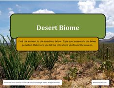 Desert Biome Online Web Search for TeensThis is a 20 question web search document you can use with high school/middle school…