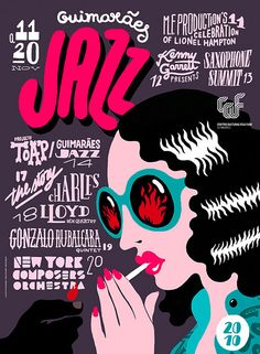 In this selection, we are presenting Artistic Jazz Poster Designs to inspire you. it will be your reference in making the theme of an event, as well as inspiration for you to create a poster / flyer promoting jazz events. Flyer Design, Web Design, Design Poster, Poster Festival, Jazz Festival, Festival Gear, Poster Jazz, Gig Poster, Luba Lukova