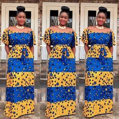Ankara Long Gown Styles : Simple and Lovely - DeZango Fashion Zone