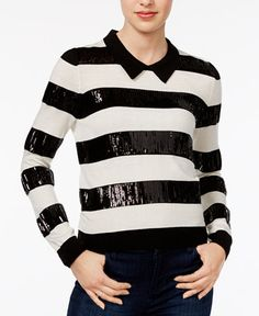 59.99$  Watch here - http://vilaz.justgood.pw/vig/item.php?t=mxvsbv40774 - Sequined Striped Sweater, Only at Macy's