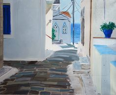 Bright light in Andros, Greece Andros Greece, Greece Islands, Arts, Travelling, Magic, Paintings, Bright, Architecture, Places