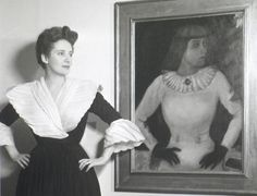 marc chagall's ida | Ida Chagall and her portrait by Marc Chagall, 1945 -by Lotte Jacobivia ...