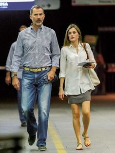 King Felipe and Queen Letizia of Spain were seen in Madrid