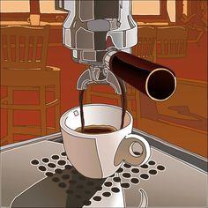 Miles Hyman Studio / Coffee Art / Coffee Shop Stuff