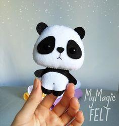 Decoraciones infantiles Panda ornamento decoración por MyMagicFelt