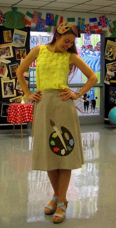 what this art teacher wore on the first day - @Jondy Edmed you must check this out